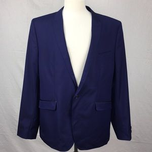 Ted Baker Navy Gemzjac Houndstooth Suit Jacket